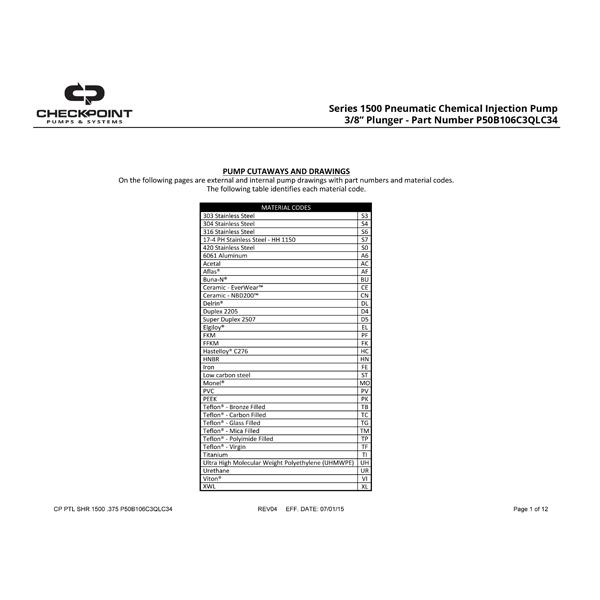 Series 1500 3/8″ Parts List